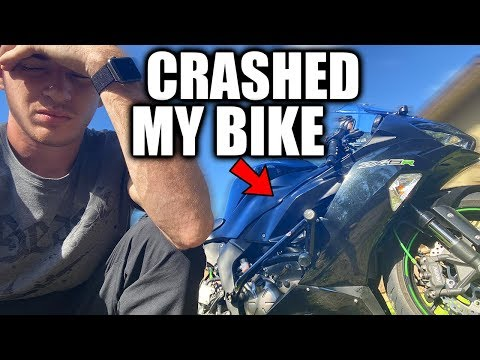 CRASHED MY 2019 ZX6R 😥