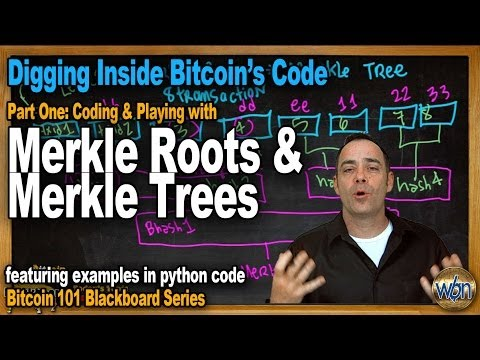 Bitcoin 101 - Merkle Roots And Merkle Trees - Bitcoin Coding And Software - The Block Header