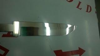 Как отполировать нож,металл.How to polish metal.