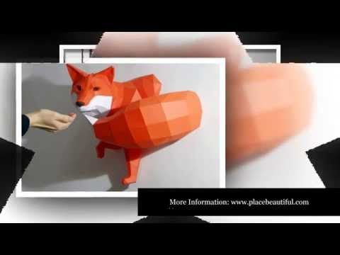 Paper Animals | DIY Geometric Paper Animal Sculptures by Paperwolf