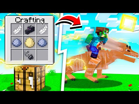 CRAFTING the WORLDS FASTEST DRAGON in Minecraft!