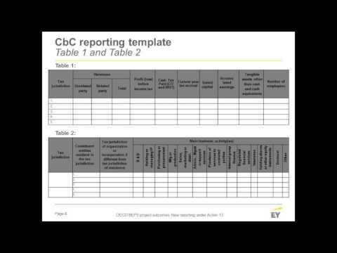 Oecd Beps Project Outcomes Part 2 New Reporting Under Action 13 Youtube