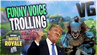 Donald Trump & Pennywise Trolling Fortnite!