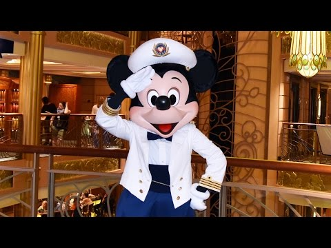 Captain Mickey Mouse Meets Us on Disney Cruise Line Fantasy Ship