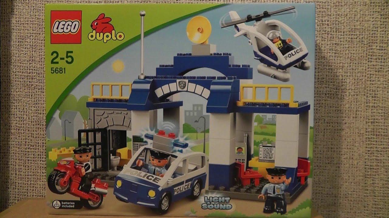 Lego Duplo 5681 Posterunek Policji Youtube