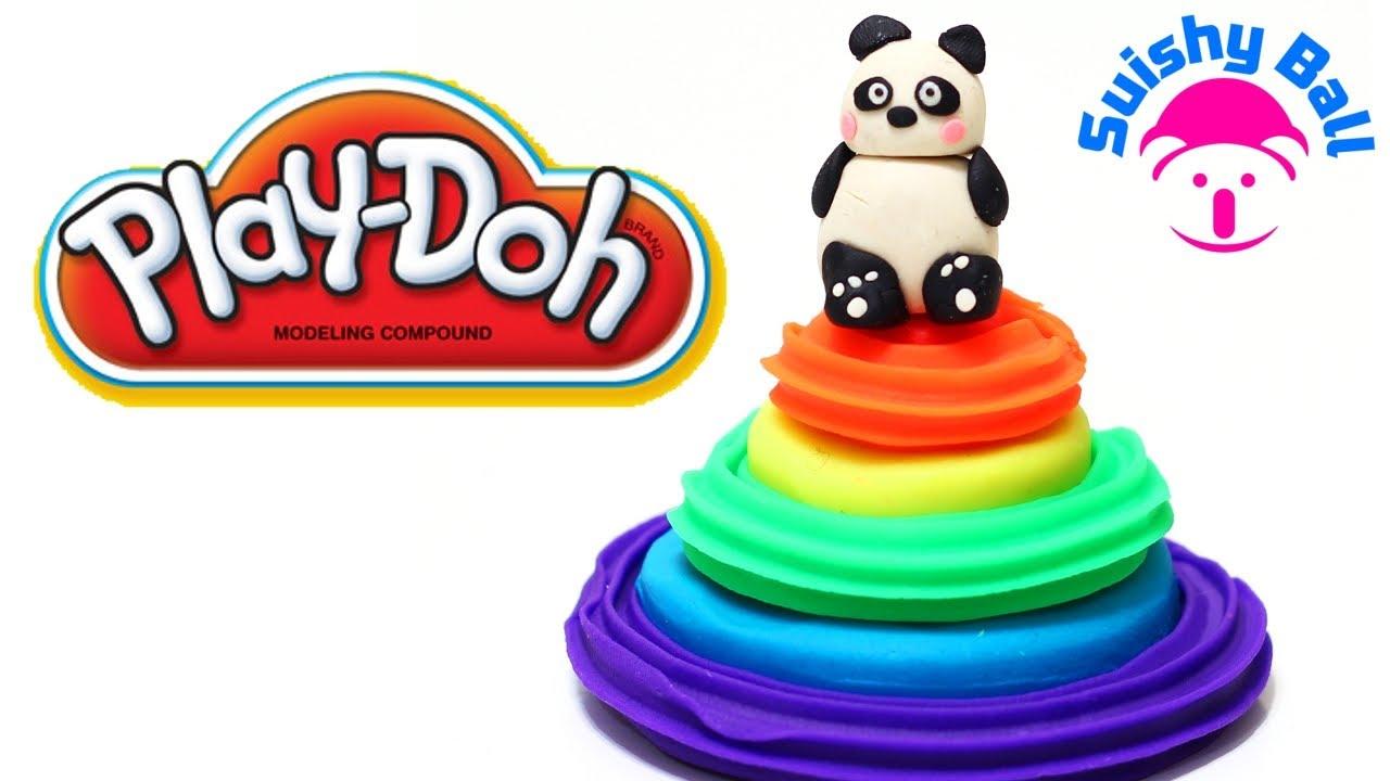 playdoh rainbow cake quick and easy way to make youtube