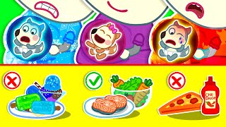 Wolf Family🌞 Which Food is Good for Baby? - Wolfoo Kids Stories About the Pregnancy Diary of Mommy