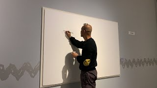 Live drawing 'To the Moon with Snoopy ' at Lotte Museum. 01