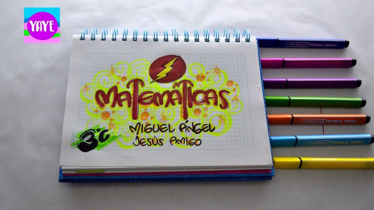 IDEAS PARA DIBUJAR PORTADA DE MATEMÁTICAS - PRIMARIA