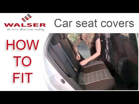 How To Fit Walser Car Seat Covers Youtube