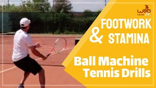 Ball machine: footwork and stamina (great tennis drills)