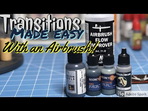 How to get the smoothest transitions using an airbrush!