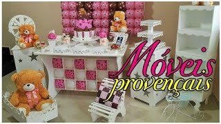 Comprinhas de móveis provençais para festas e atelier por Artesanato Viviane Magalhães