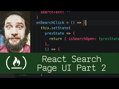 React Search Page UI Part 2 (P5D49) - Live Coding With Jesse