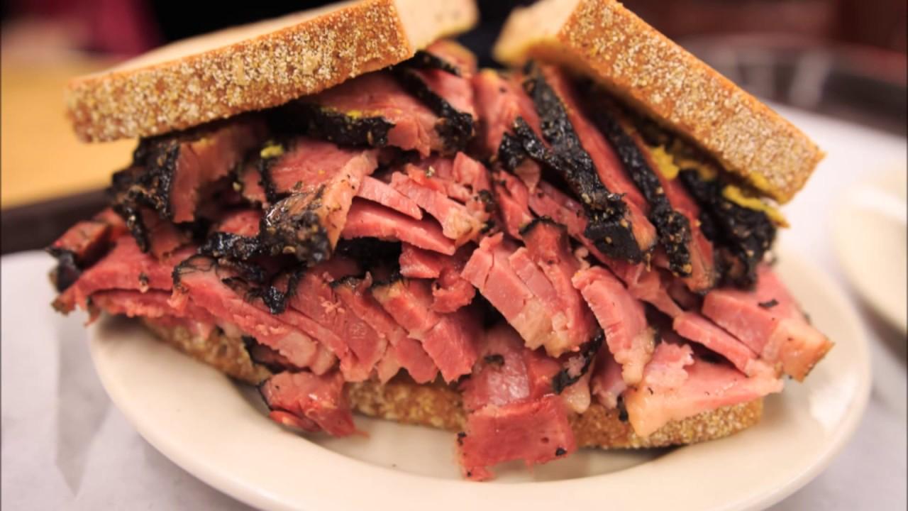 Image result for pastrami sandwich katz's deli you tube