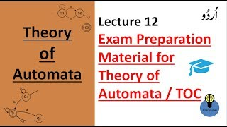 Lecture 12: Exam Material for theory of automata   theory of computation lectures in hindi TOC