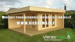 Piharakennuksen pystytys ja kokoaminen. Ohjeet kuinka rakennat pihamökin tai vierasmajan.
