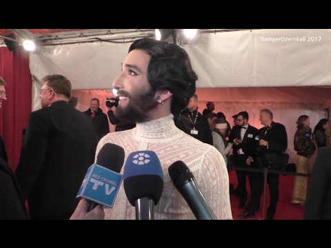 Conchita Wurst interview, SemperOpernball, Dresden, 03.02.2017