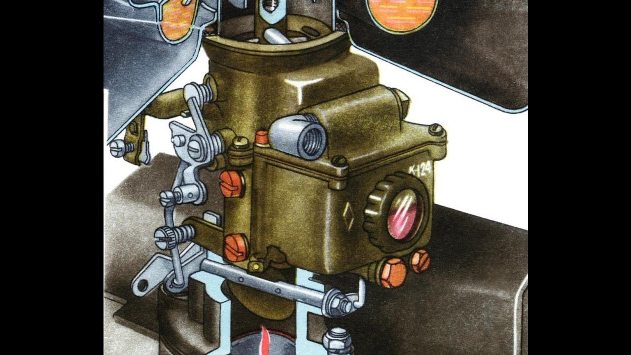 Установка карбюратора К-124  и запуск (Setting carb K-124)
