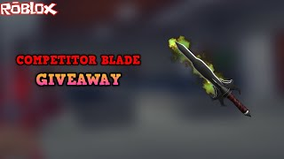 WIE EIN COMPETITOR BLADE KOSTENLOS GET! *COMP PRIZE MYTHIC GIVEAWAY* (ROBLOX ASSASSIN GIVEAWAY)