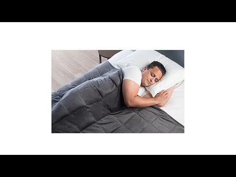 Sharper Image Calming Comfort 25 Lb Weighted Blanket Youtube