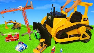 Bulldozer Ride On Surprise Toys: Fire Truck, Cars, Trucks, Trains, Excavator & Toy Vehicles