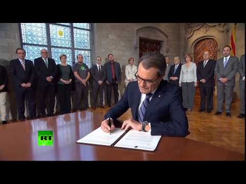 Historic Moment? Catalonia president signs independence referendum decree