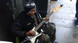 OG blues guitarist on Royal St French Quarter New Orleans