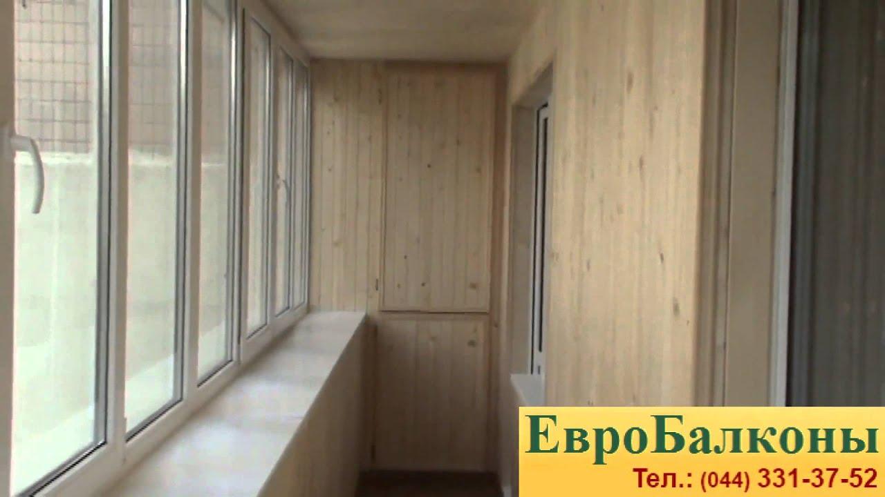 Обшивка балкона деревянной вагонкой - youtube.