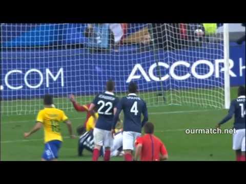 คลิปไฮไลท์อุ่นเครื่อง ฝรั่งเศส 1 3 บราซิล France 1 3 Brazil   Football Fun net
