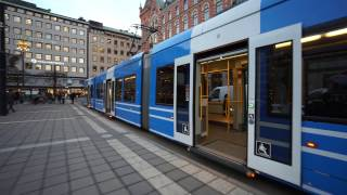 Sweden, Stockholm, tram ride from Norrmalmstorg to Djurgårdsbron