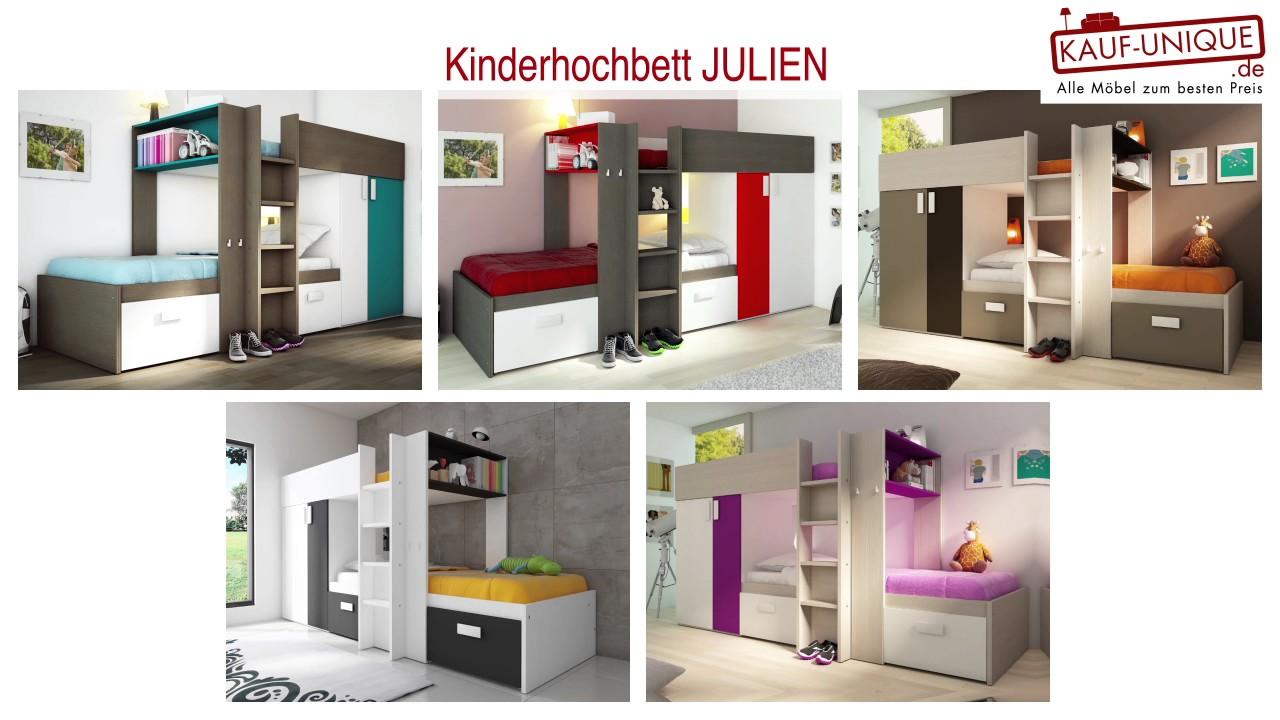 Hochbett Etagenbett Julien : Kinderhochbett julien ° ansicht youtube