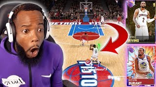 NETS 99 OPAL KEVIN DURANT & KYRIE IRVING SHOOT HALF COURT! NBA 2K19