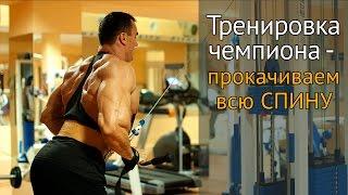 Как накачать широкую спину - тренировка с чемпионом по бодибилдингу
