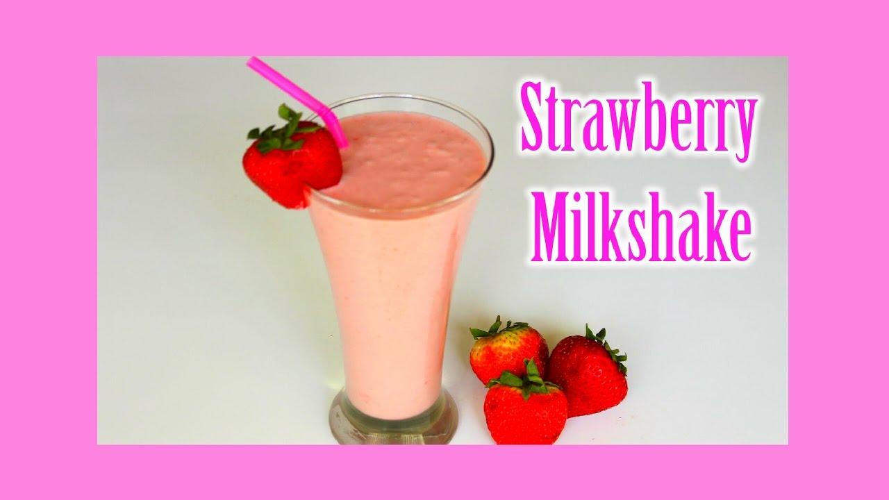 how to make fresh strawberry milkshake without ice cream