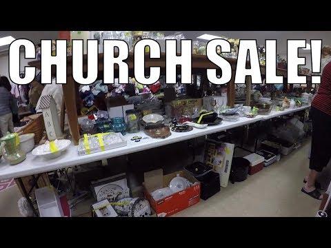 RUMMAGE SALE TREASURE HUNTING! Church Sale!