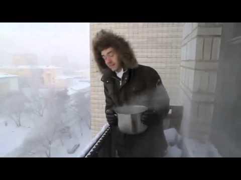 Cosa succede se butto acqua bollente dal balcone (ma a -41 gradi di temperatura)?