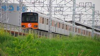 柳瀬川駅~みずほ台駅を通過する、ももクロ号(佐々木彩夏HM)。(2017年5月1日撮影)