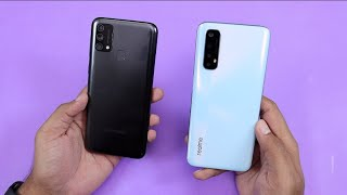 Samsung Galaxy F41 vs Realme 7 Comparison | Samsung F41 Unboxing Hindi