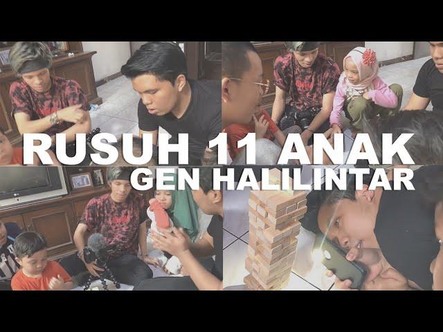 Full Team Gen Halilintar Challenge 11 Anak di Ultah Nenek, Kakek Jatuh di Masjid Patah Kaki