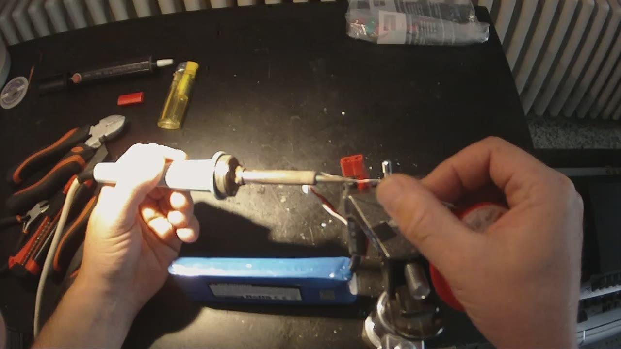 NetAndif] Deans Stecker an 8 AWG Kabel anlöten - YouTube
