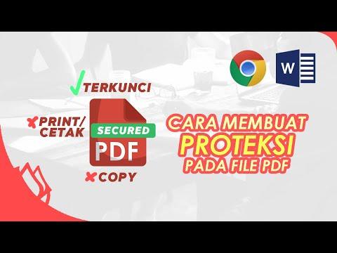 Cara Mengunci File Pdf Agar Tidak Bisa di Copy.