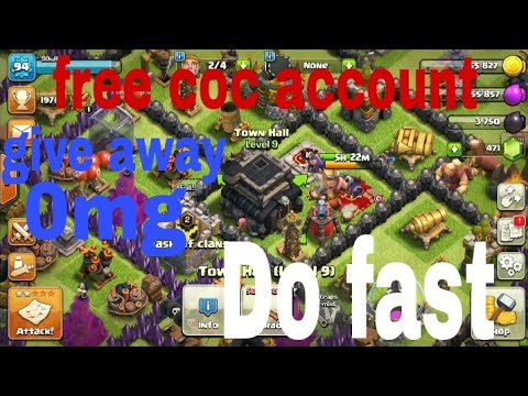 free coc account giveaway