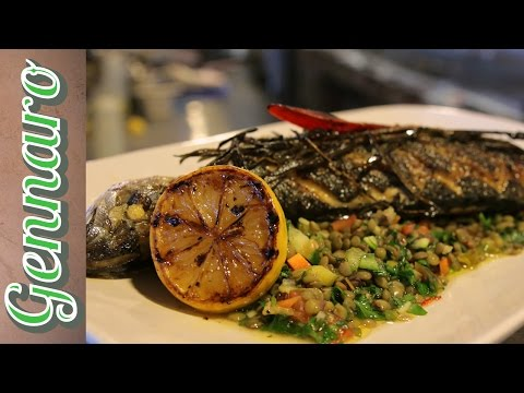 Pan-Fried Mackerel With Lentil Salad