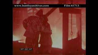 Steel Works in Manchuria China in the 1960 39 s Archive film 61713