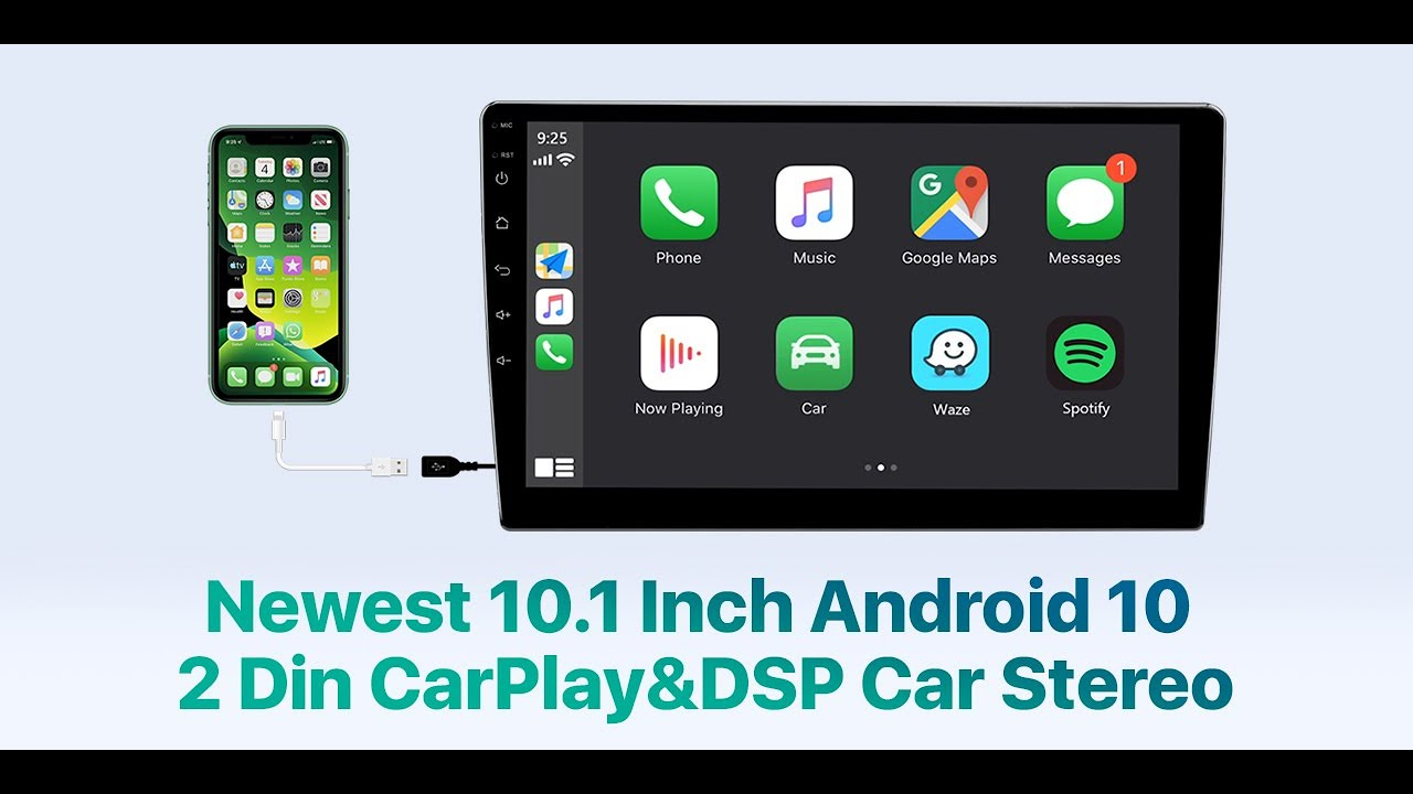 Eonon Android 10 10.1 Inch Car Stereo with Navigation Car Radio Support Android Auto Apple Carplay//WiFi//Fast Boot//Backup Camera//OBDII 2020 Newest Double Din Car Stereo Android Radio with DSP GA2188