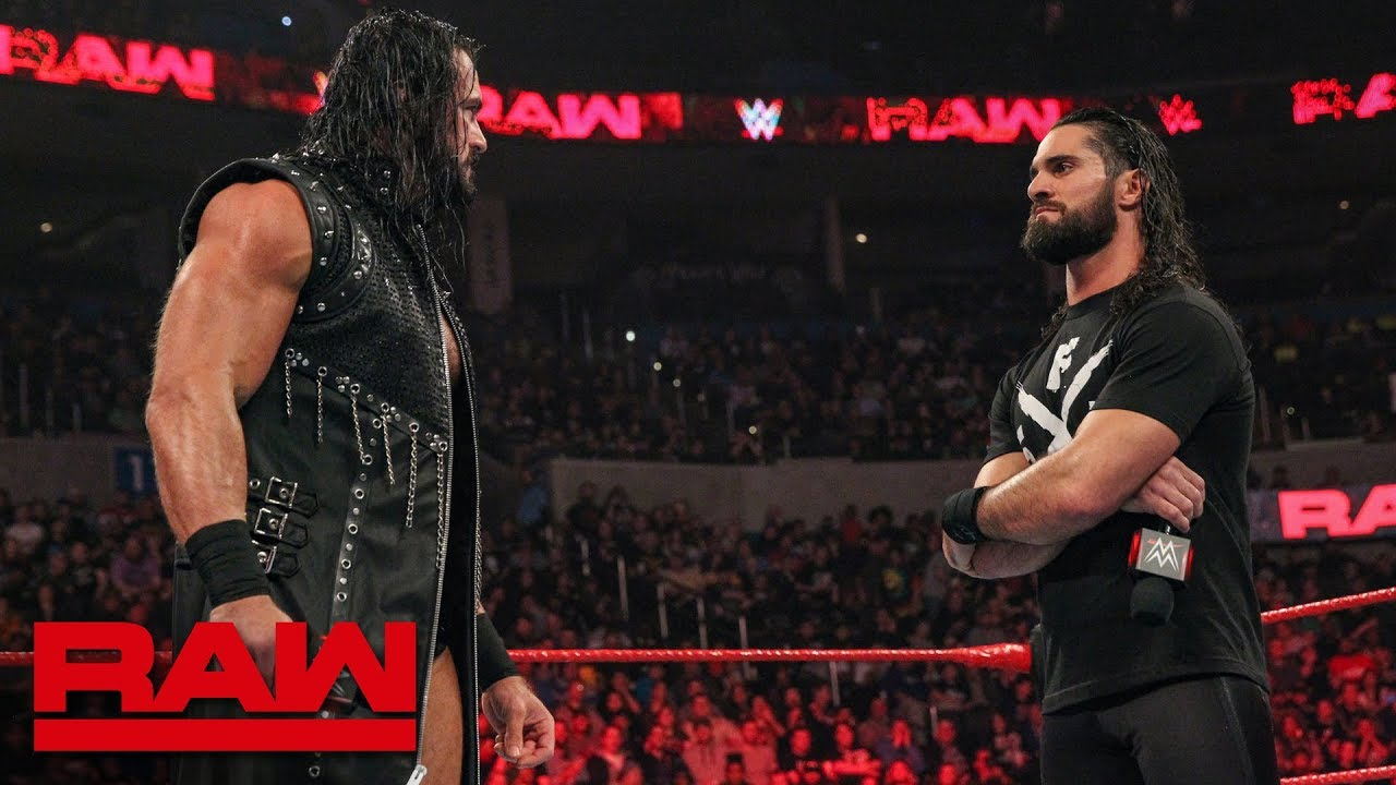 Seth Rollins and Drew McIntyre trade words before their match: Raw, Jan. 21, 2019