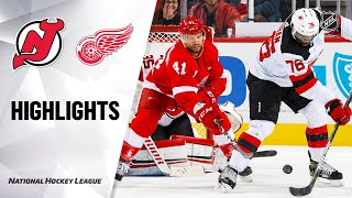 NHL Highlights | Devils @ Red Wings 2/25/20