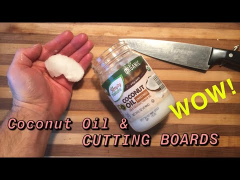 Coconut Oil For A Cutting Board Youtube
