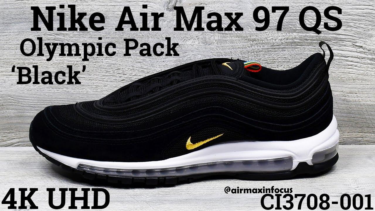 nike air max 97 qs black and gold